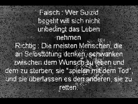 Zitate und Sprüche., schmerzhaftes-sterben:   Falsch: Wer Suizid begeht...