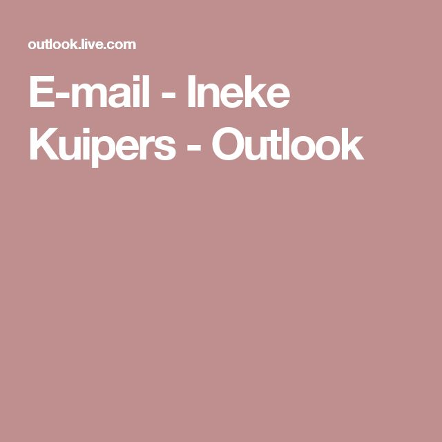 E-mail - Ineke Kuipers - Outlook