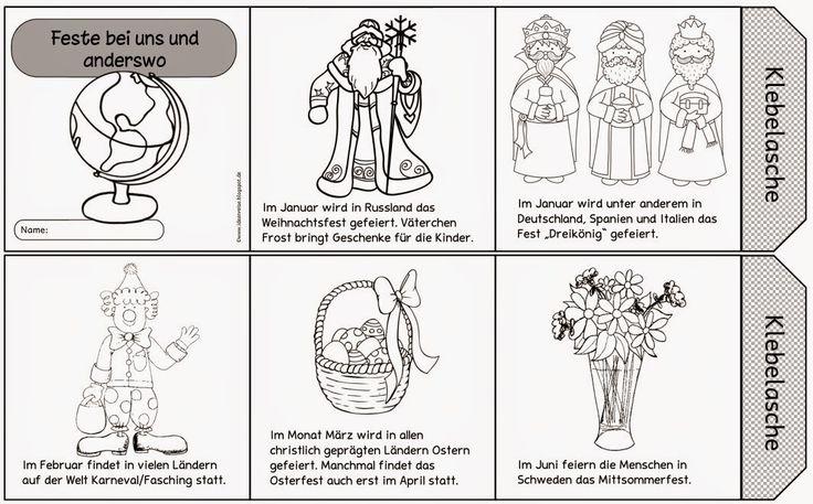 """Feste bei uns und anderswo: Bildkarten und Faltleporello    Eine etwas größere Einheit in unserem HSU- Buch ist das Thema """"Feste bei uns un..."""