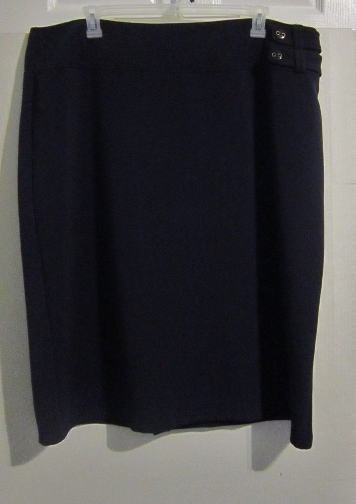 Cato Womens Plus Size 26/28 Calf Length Skirt Navy Career Dress New Nwt #Cato #ALine #DressCareer