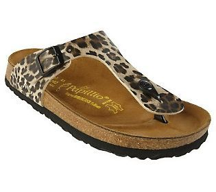 Papillio Gizeh Animal Print Thong Sandals - I want to add this to my Birkie collection!