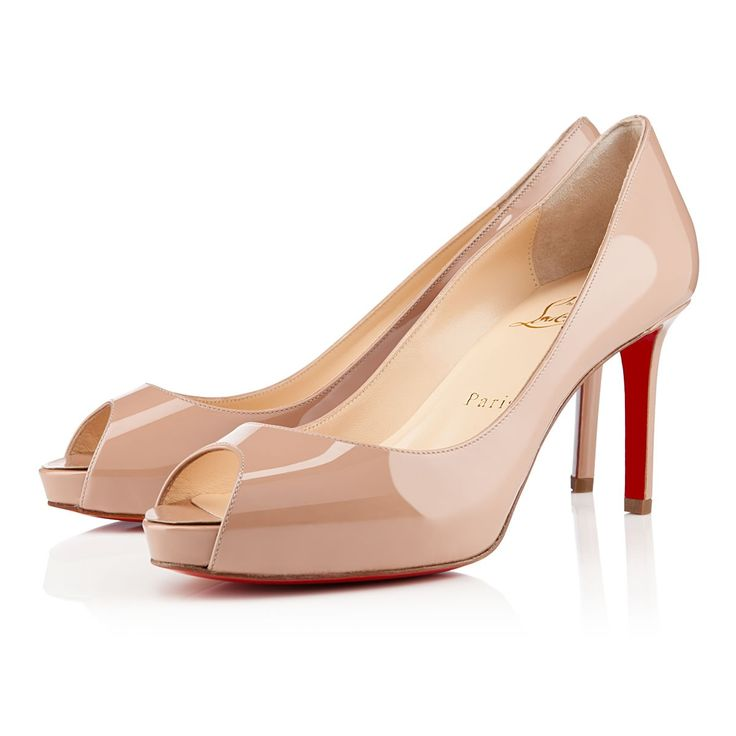 All You Need is Love And Christian Louboutin No Matter 80mm Peep Toe Pumps Nude EMR!