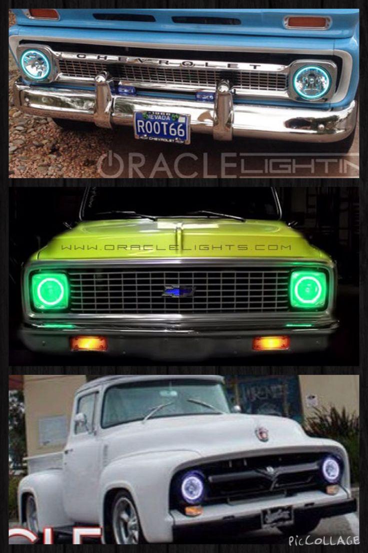7 sealed beam headlights round