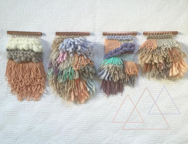 △▲Sunday morning mini line up▲△ Woven wall hanging weaver fever  ☁️ woven wall hangings weave witch wool & needle by cam kennedy