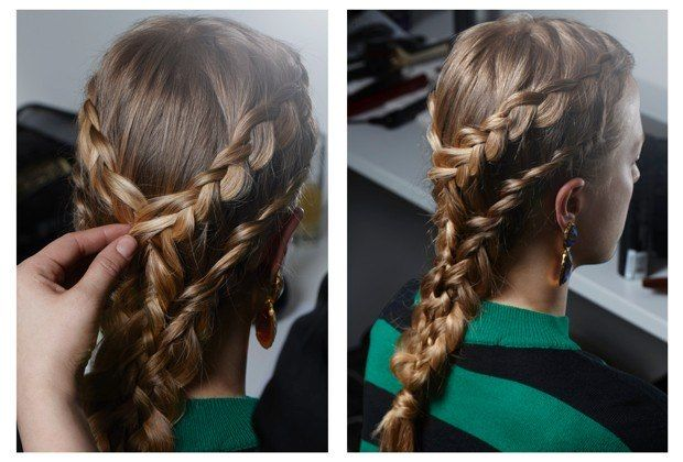 Sansas's Mini French Braids : Game Of Thrones Hair: How To Do The Show's Best Braids At Home : Lucky Magazine