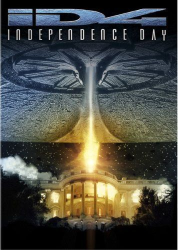 Independence Day (1996) Poster  We rented this movie on VCR (because there were no DVD's). Watched it 4 or 5 times over that weekend and bought a copy for ourselves. It's what the yanks do so well - patriotism and stirring speeches. Millions are killed (alien invasion folks) but there is no gratituious violence or bloodshed scenes. It's just entertainment with an over the top plot that works. Love Jeff Goldblum. He and Will Smith made a great team.