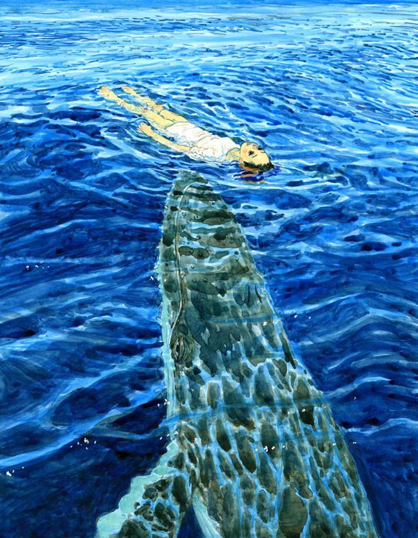 画集「海獣とタマシイ」収録予定作品の一部。