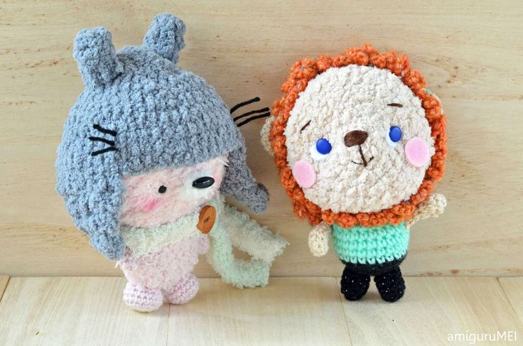 Mei-chan and Rory the circus lion amigurumi