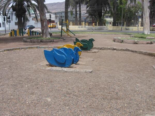 Plaza de los patitos. Foto enviada por @jota_bobe
