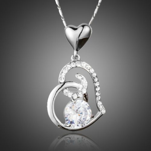 Halskette mit Herz Anhänger❤Damen❤Rosegold❤Strass❤Modeschmuck❤Kette❤günstig❤NEU