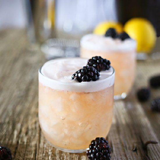 blushing whiskey sour.