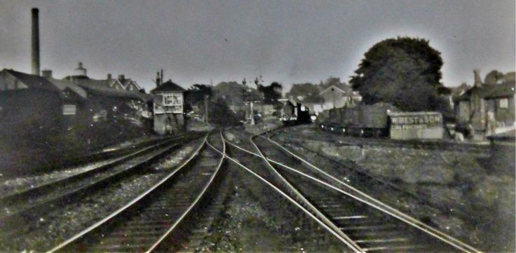 From the About EG Archive: EG's High Level Station, looking east & showing the goods yard. 6:45pm 30th August 1934.