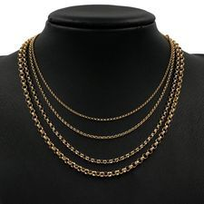 Yellow Gold Belcher Necklaces