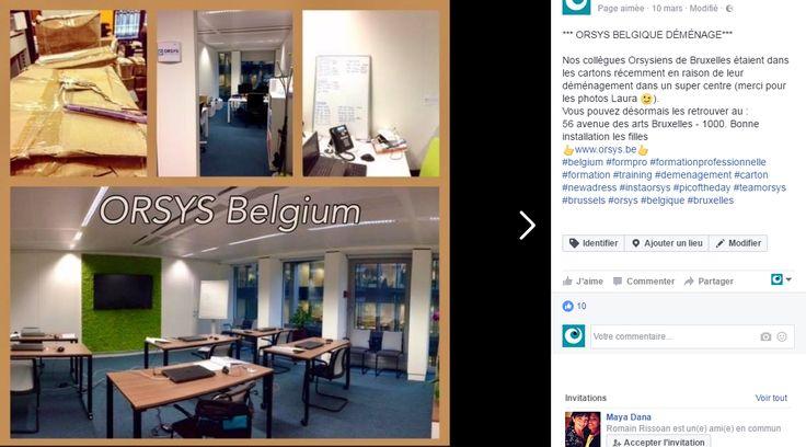 Nos collègues Orsysiens de Bruxelles étaient dans les cartons récemment en raison de leur déménagement dans un super centre (merci pour les photos Laura ;)). Vous pouvez désormais les retrouver au : 56 avenue des arts Bruxelles - 1000 #Brussels #Bruxelles #Training #Formation #ORSYS