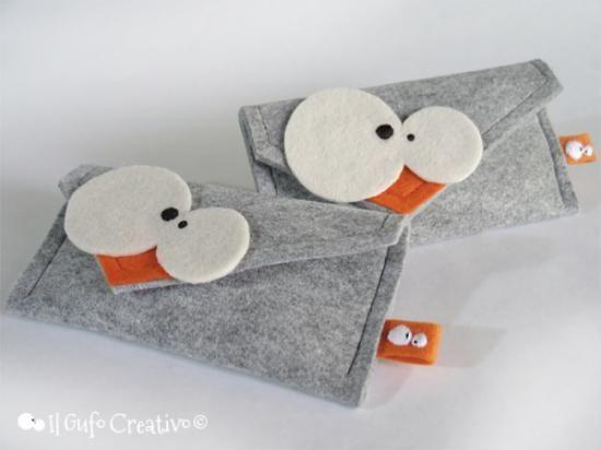 custodiaiphone de il gufo creativo custodia iphone e simili grigio feltro di lana confezione