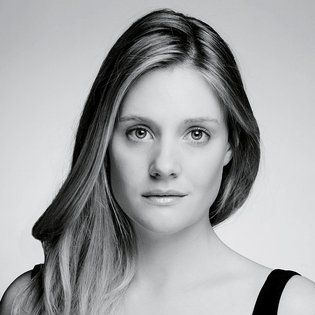 Romola Garai, black and white, serious http://RomolaGarai.org