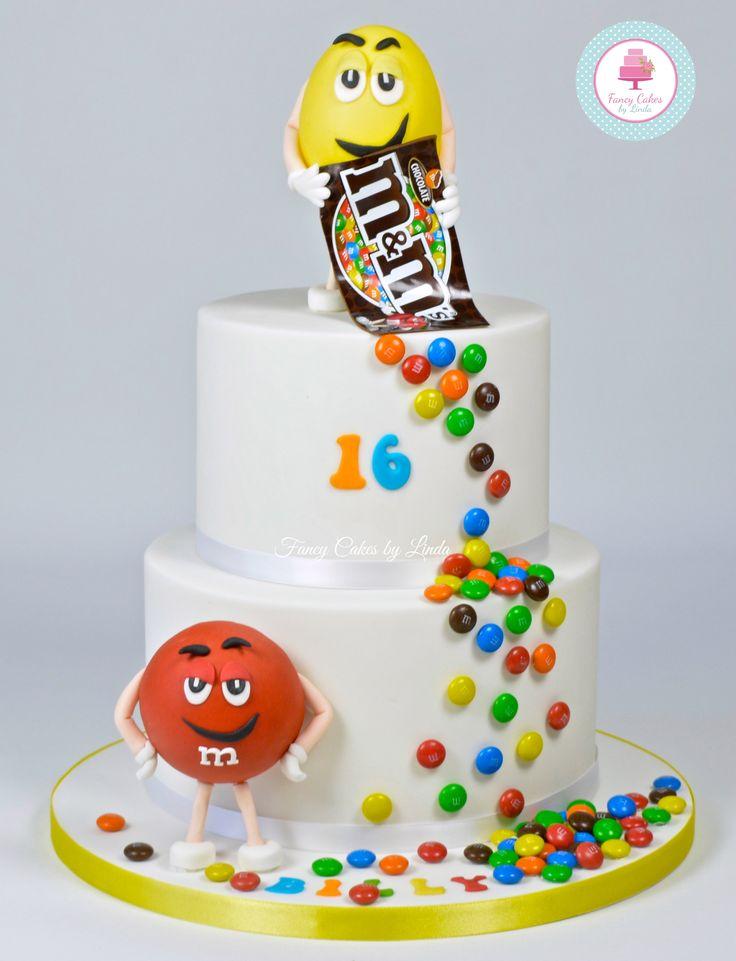 M And M Birthday Cake