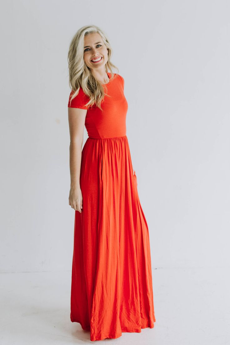 Adelaide Coral Maxi Dress