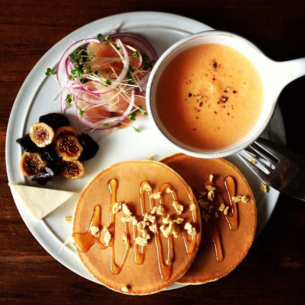 Today's breakfast. Carrot soup. 人参のポタージュ - @keiyamazaki- #webstagram