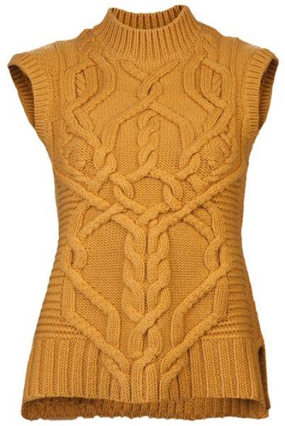 Derek Lam Orange Knit Sweater #inspiration