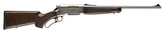 •RECEIVER – Aircraft grade aluminum; Nickel finish; High-relief engraving; Drilled and tapped for scope mounts. •BARREL – Polished stainless steel; Crowned muzzle.•ACTION – Lever-action. Buds Gun Shop is all that and a bag of chips. And a Coke. This gun is a beauty. Buds is about $200 under the price of a local sporting goods store in this area. Beeeautiful gun; have to see it to really appreciate its prettiness.
