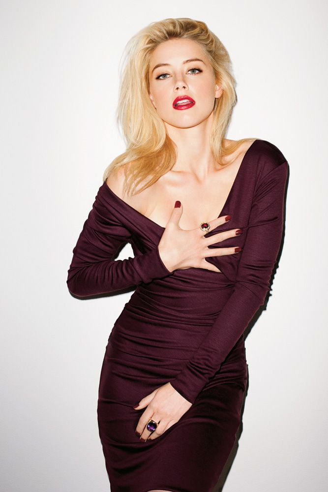 Amber Heard in DVF for T Magazine photographed by Terry Richardson.