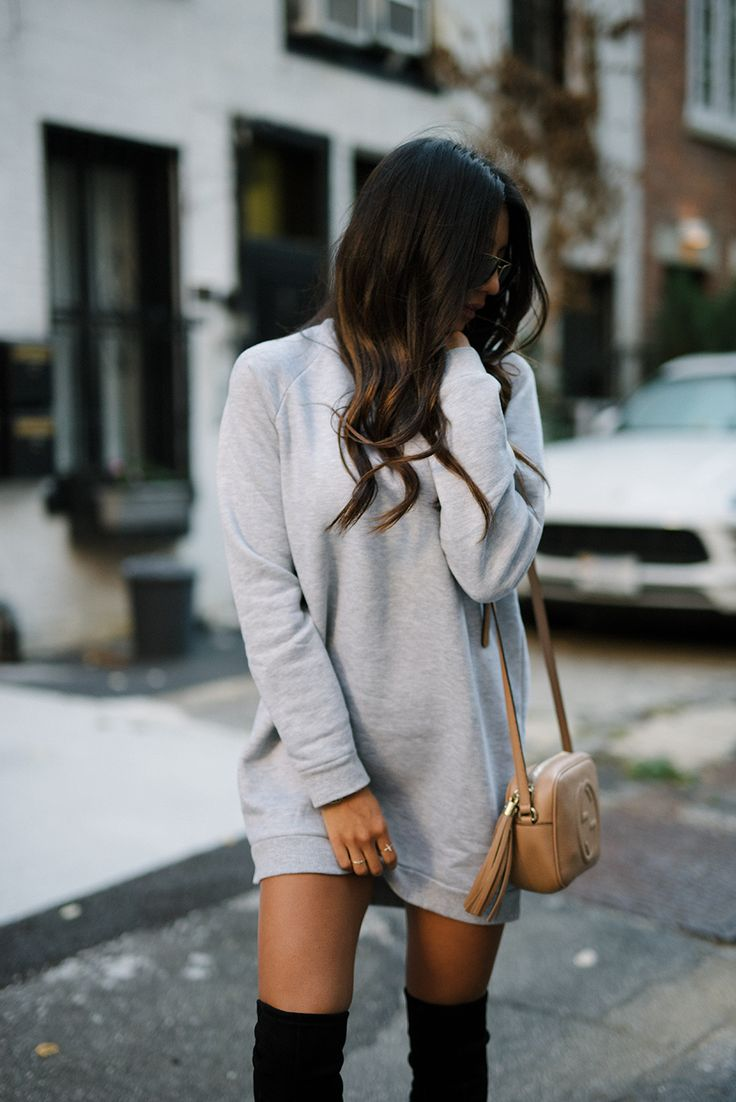 HOW TO WEAR: The SWEATSHIRT Dress                                                                                                                                                                                 More