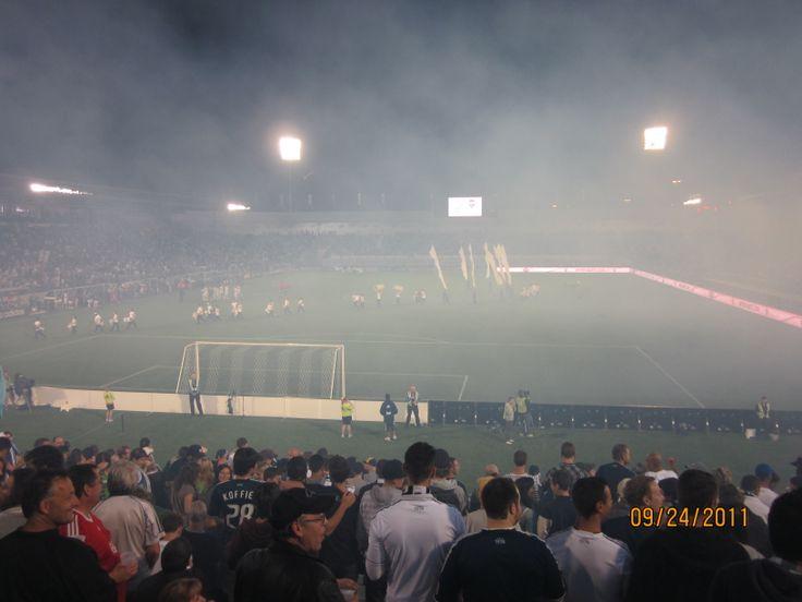 Last Whitecaps game ever played @ Empire Stadium