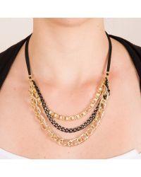Boncuklu Zincir Kolye   #gold #black #altin #siyah #kolye #necklace #chic #fashion #style #stil #moda #modavapuru
