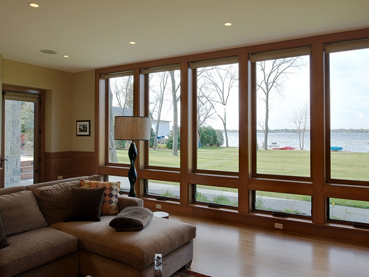 Pinnacle clad awning and direct set, and swinging patio doors by Windsor Windows & Doors. www.windsorwindows.com