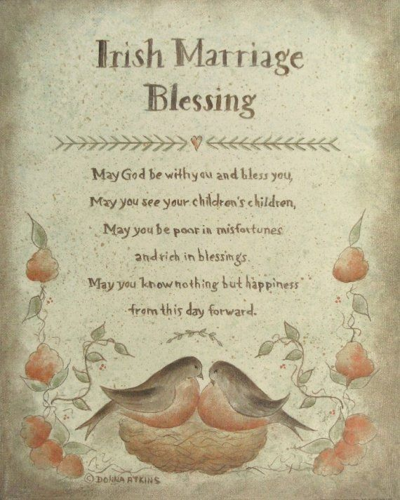 Irish Blessing Proverb prints by Donna Atkns - Choose from Marriage, Christening, Inspirational and more❤️