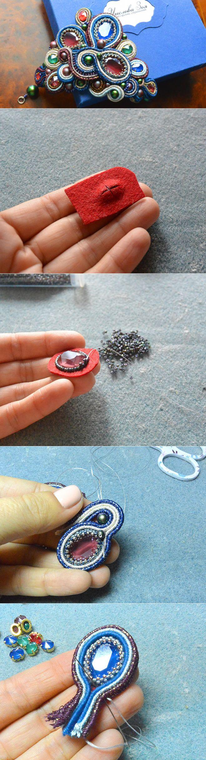 Создаем браслет «Королевский стиль» из сутажа с кристаллами Swarovski - Ярмарка Мастеров - ручная работа, handmade