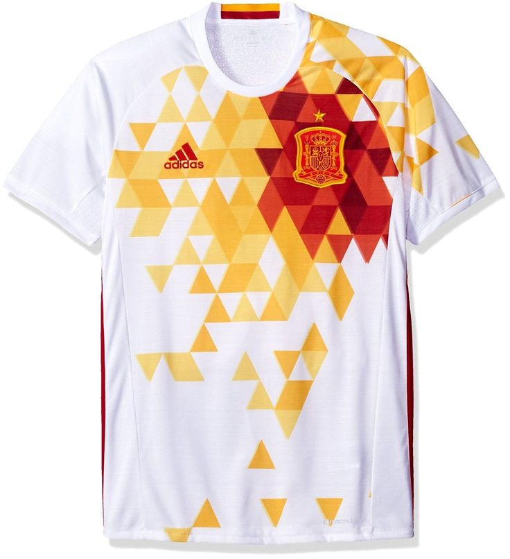 Adidas Men'S International Soccer Jersey White/Red Spain X-Large