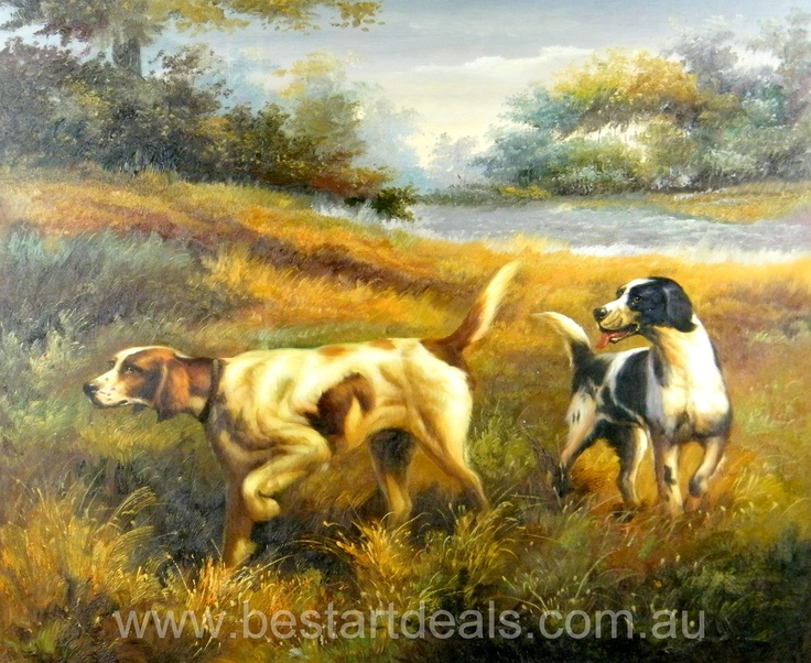 Hunting Dogs Oil Painting Birds And Animals Art
