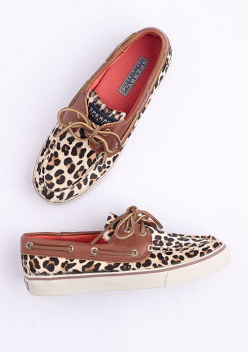 I don't care for Sperry's but these r cute!!! Love leopard print