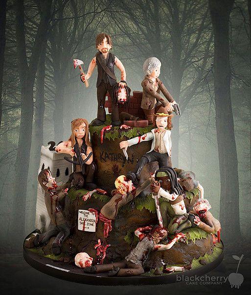 Best 25 Walking Dead Cake Ideas On Pinterest Walking