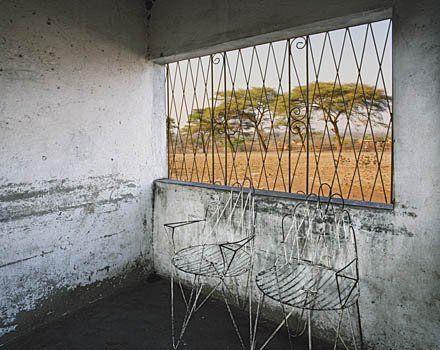 Restaurnt at Sibinda, Caprivi Strip, Namibia by Obie Oberholzer
