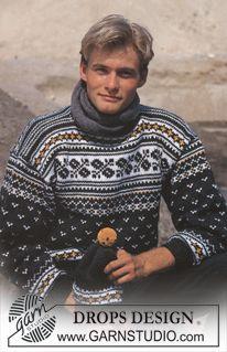 DROPS ski-genser i Alaska med nordisk Lue i Dame og Herre str ~ DROPS Design