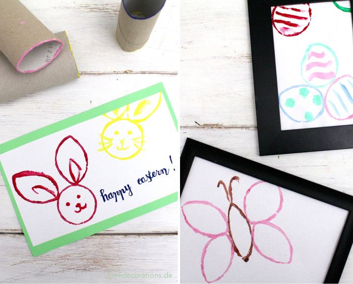 Love Decorations: DIY Oster-Stempel aus WC-Rollen // DIY Easter Stamps made of WC Rolls