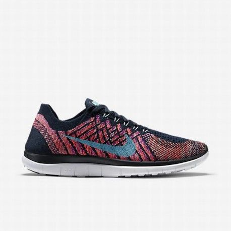 31c9f21791f9 Nike Women s Dark Obsidian Vivid Purple Hyper Orange Copa Free 4.0 Flyknit  Running Shoe