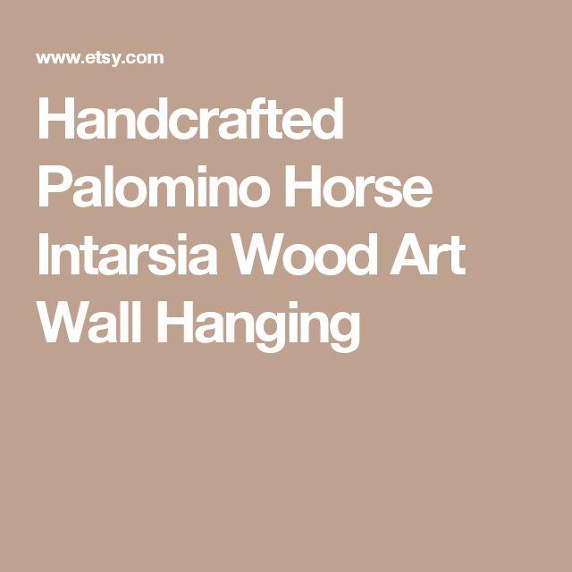 Handcrafted Palomino Horse Intarsia Wood Art Wall Hanging