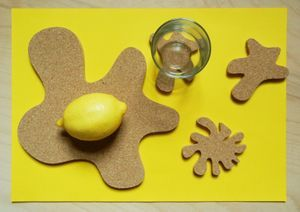 Cork Plate Set - coasters designed for plates and glasses