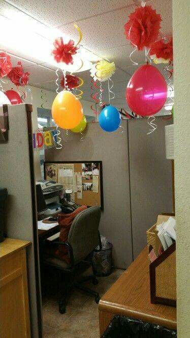 Cumplea os fiestas y eventos pinterest cubicle office birthday and cubicle birthday - Decoration bureau ...