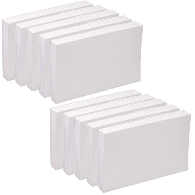 Oxford Blank Index Cards 5x 8 White 100 Pack 10 Review Index Cards Office Cards 10 Things