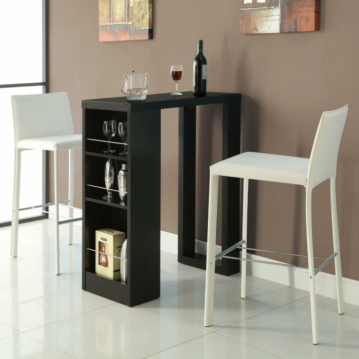 Bar Units and Bar Tables Small Bar Table with Storage Shelves by Coaster - Coaster Dealer Locator - Pub Table