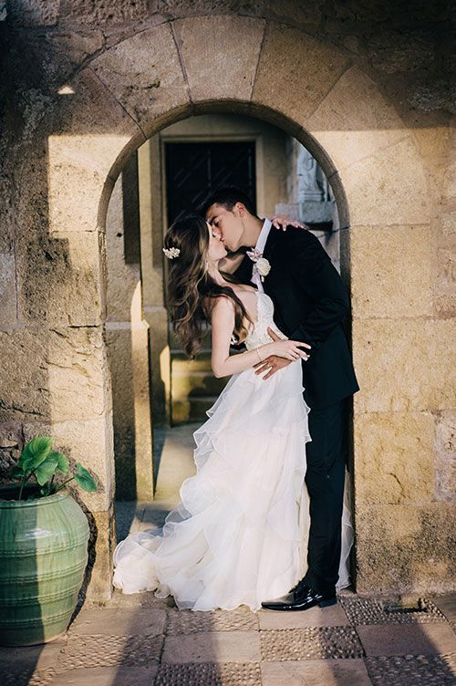 Destination Wedding Gift For Bride And Groom : ... Castle Destination Wedding, Bride and Groom Portraits Brides.com