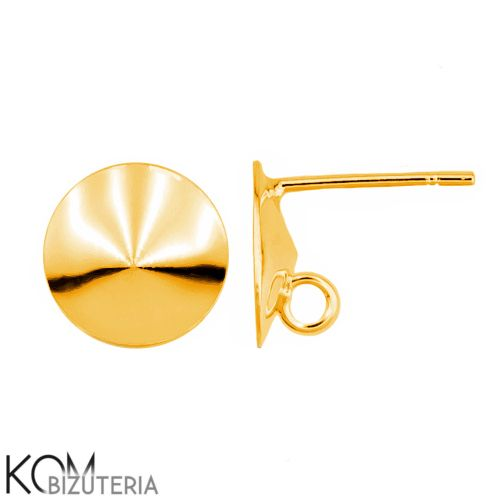 Gold-plated silver 14mm rivoli earring 1 pair KH8.1 for proffesional and handmade jewelry from KOM Bizuteria by DaWanda.com
