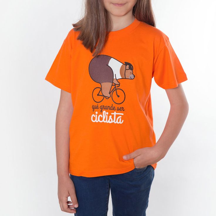 Camiseta de ciclismo niños-as colección qué grande ser ciclista. Cycling t-shirt