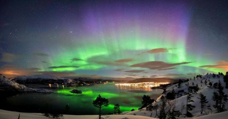 * Aurora Boreal na Noruega
