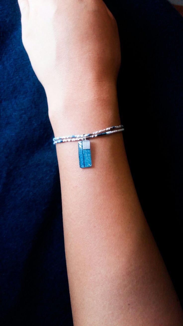 Korean jogakbo(patchwork) theme bracelet by Heila G